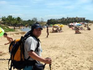 Eu na praia de Marobá